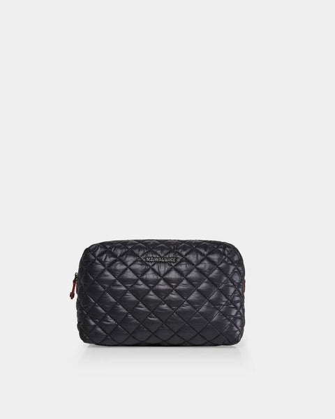 Mica Cosmetic Bag, Black-MZ Wallace