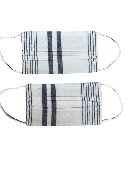 Face mask, set of 2 - Dresden stripe-Rails