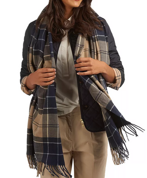 Barbour Hailes Wrap - Tempest Trench Tartan-Barbour