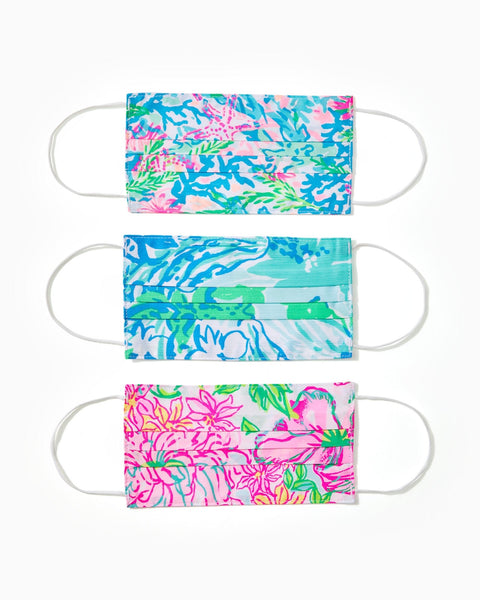 Adult Face Mask- Assorted 3 Pack, Multi-Lilly Pulitzer