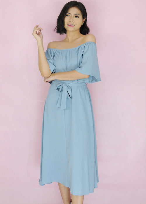 Zeshan Dress - Light Blue