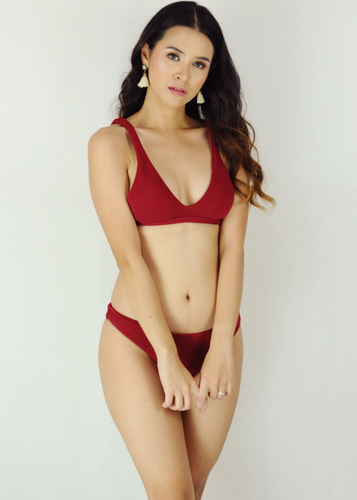 Lauren Two Piece Swimwear- Red