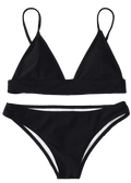 Black Padding Bikini Two Piece Swimwear