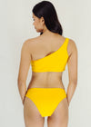 Fanya Bikini - Yellow One Side Cut Two Piece