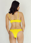 Winona Bikini - Yellow Two Piece Smocked Sexy Swimwear