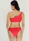 Fanya Bikini - Red One Side Cut Two Piece