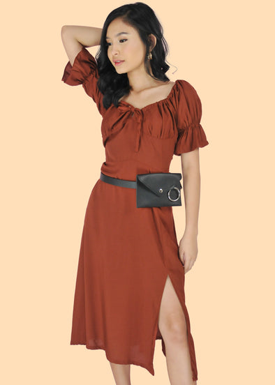 Betta Dress- Rust