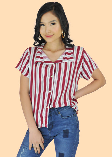 Tressa Top - White Red