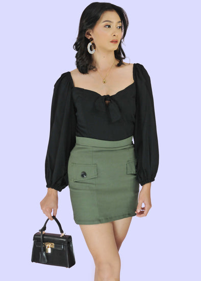 Moira Skirt - Army Green