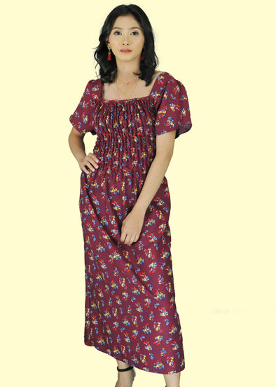 Helena Dress - Maroon