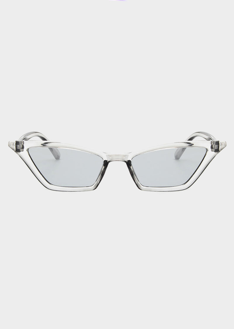 Gray Tinted Small Cat Eye Sunglasses