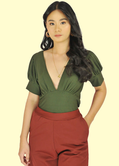 Wilda Top - Army Green