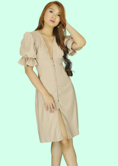 Thalia Dress - Nude