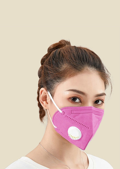 KN95 Face Mask Valve - Hot Pink