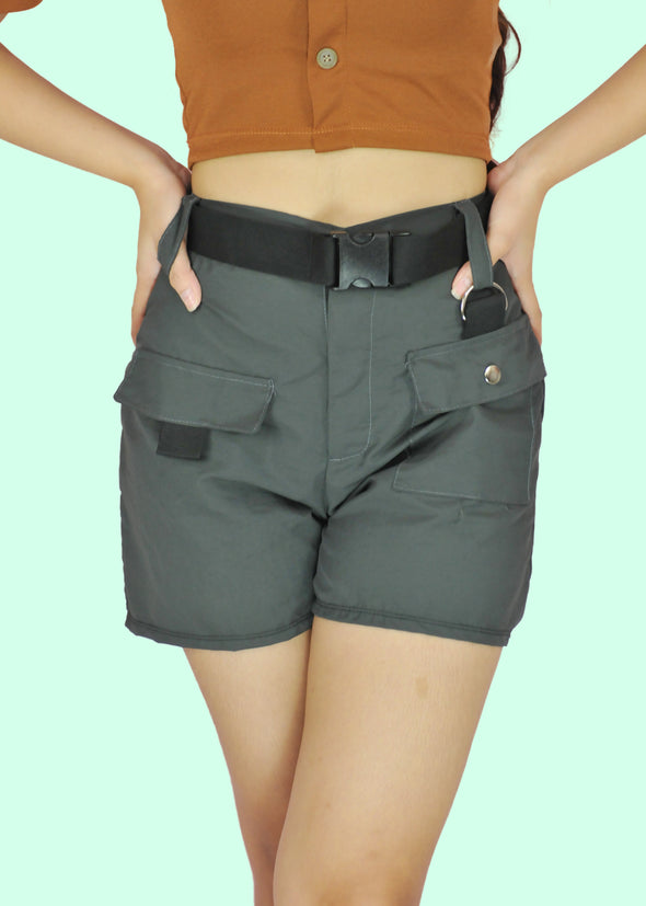 Glenn Shorts with Belt - Dark Gray