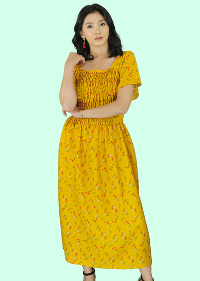 Helena Dress - Yellow