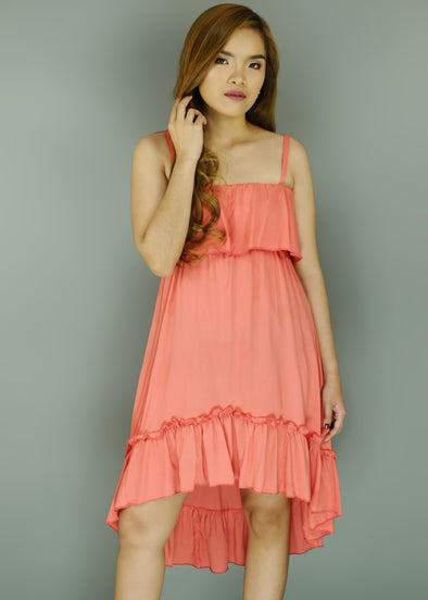 Pink Spaghetti Layered Dress