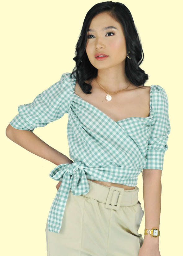 Frida Top - Pastel Green