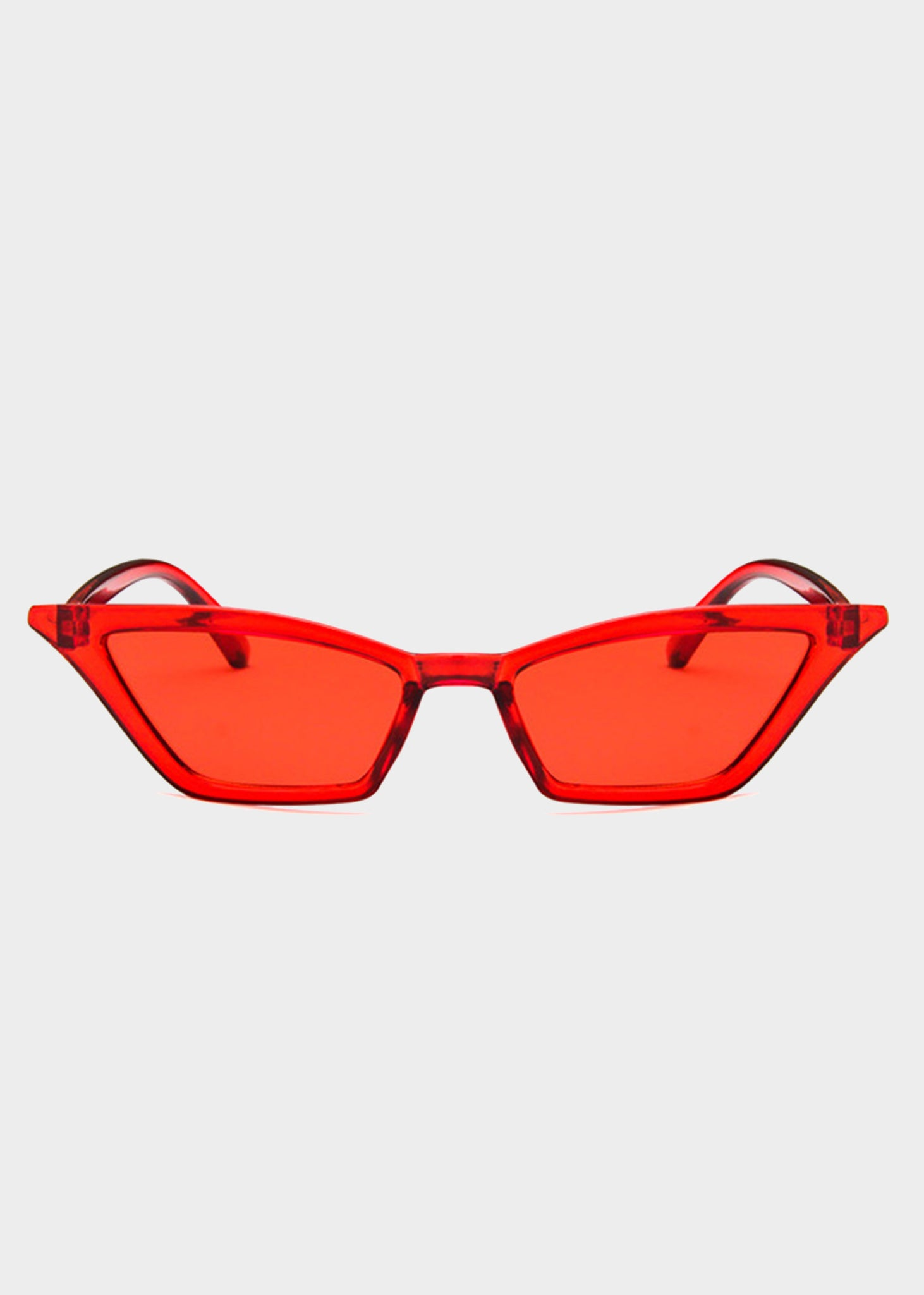 456fb3478a Red Tinted Small Cat Eye Sunglasses