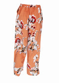 Light Pink White Floral Cullotes Pants