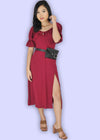 Betta Dress- Maroon