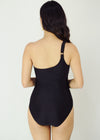 Sacha One Piece Swimwear Black One Sided Shoulder One Piece Swimwear Swimsuit