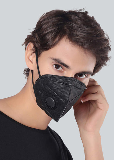 KN95 Face Mask Valve - All Black