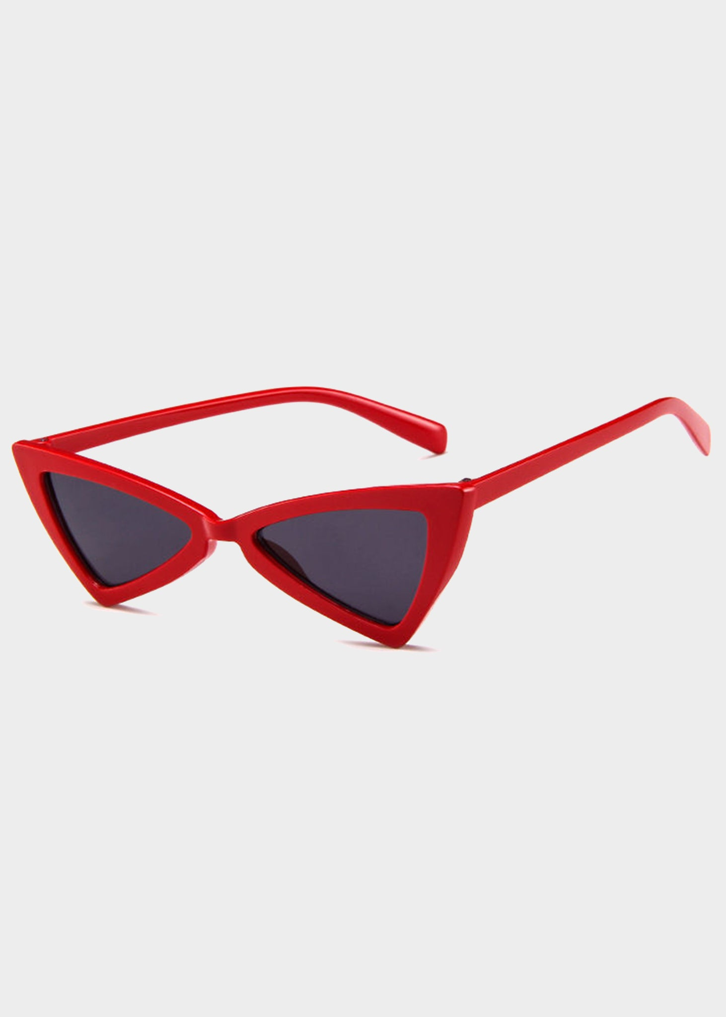 b97a1f4cea Red Tinted Triangle Cat Eye Sunglasses – ZEALO