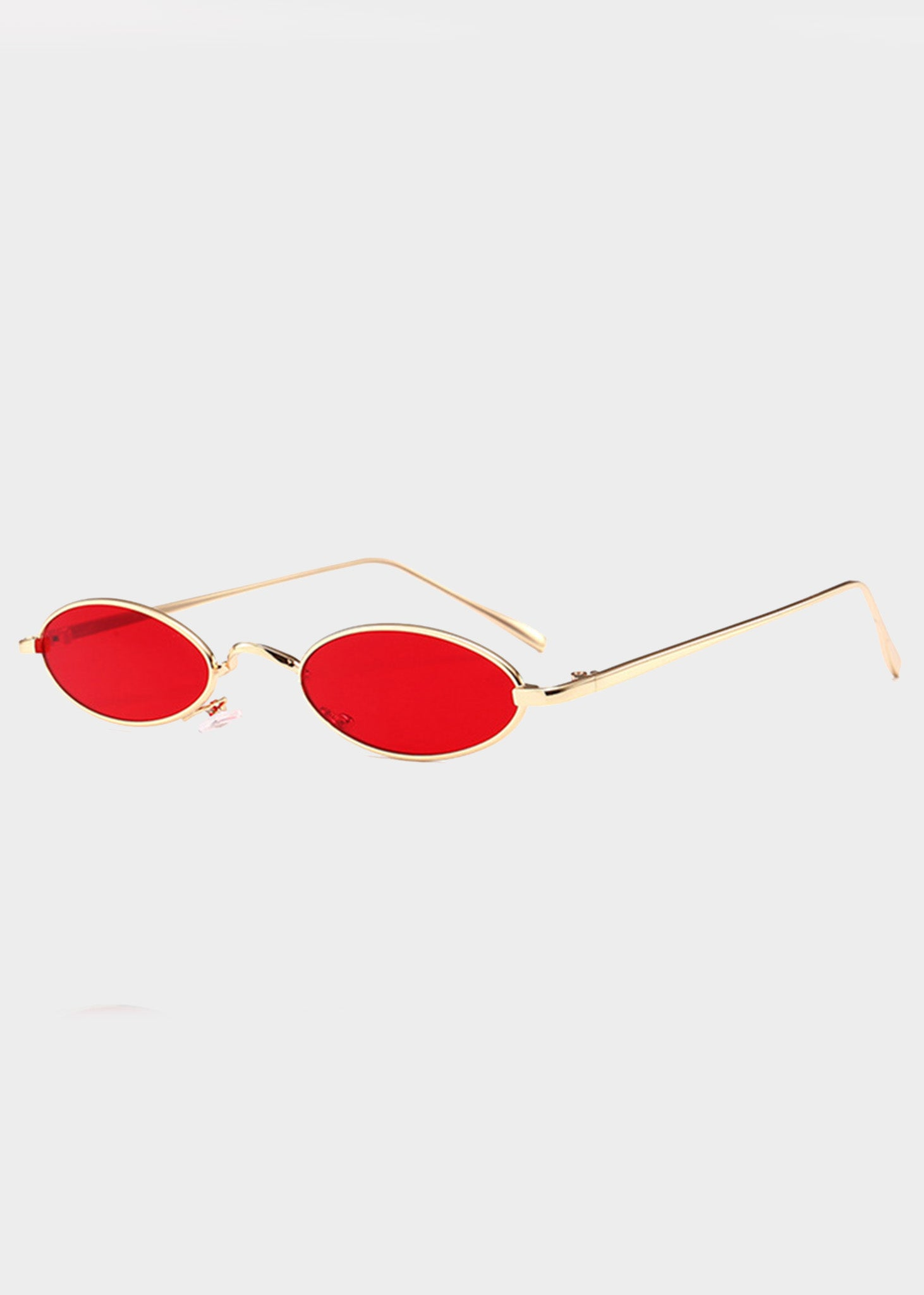 b3bb3ab5ee ... Red Small Lens Oval Sunglasses