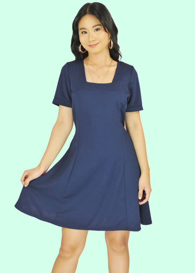Demi Dress - Navy Blue