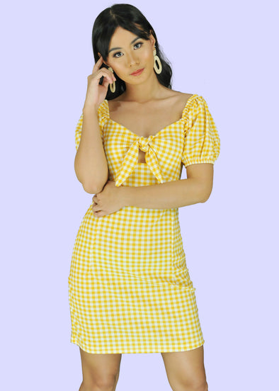 Christa Dress - Yellow