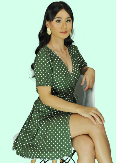 Audrey Dress - Army Green
