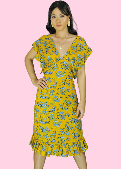 Zandra Dress - Yellow