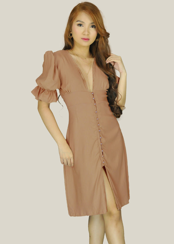 Thalia Dress - Tan