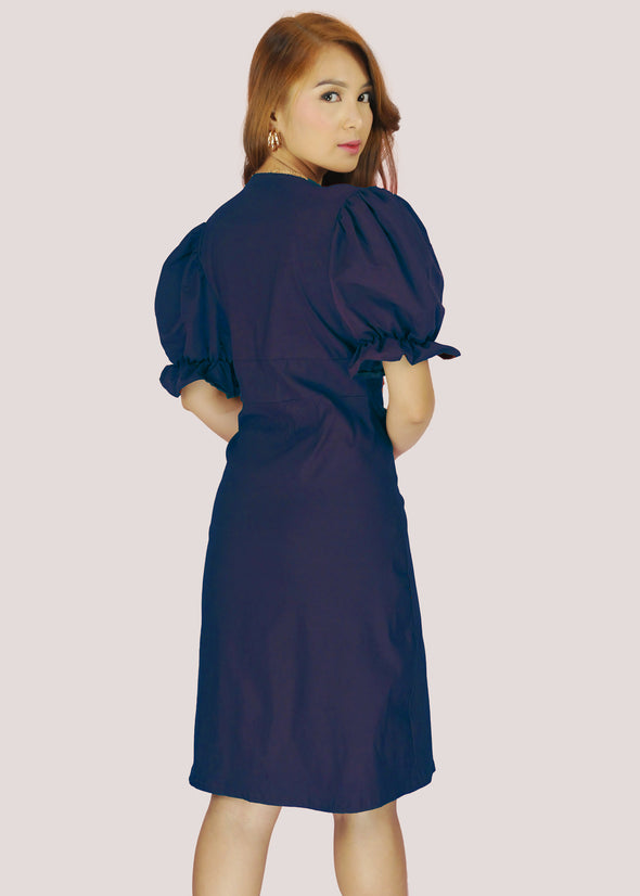 Thalia Dress - Navy Blue