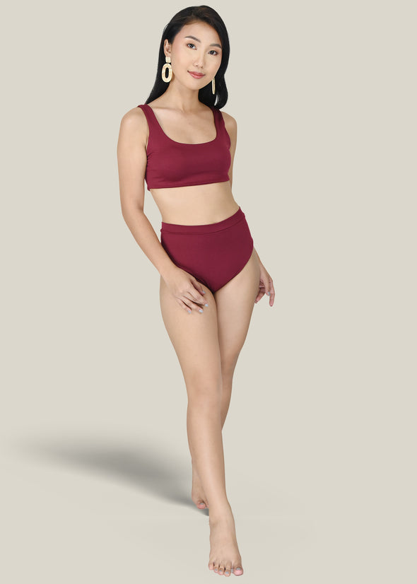 Dina Two Piece - Maroon