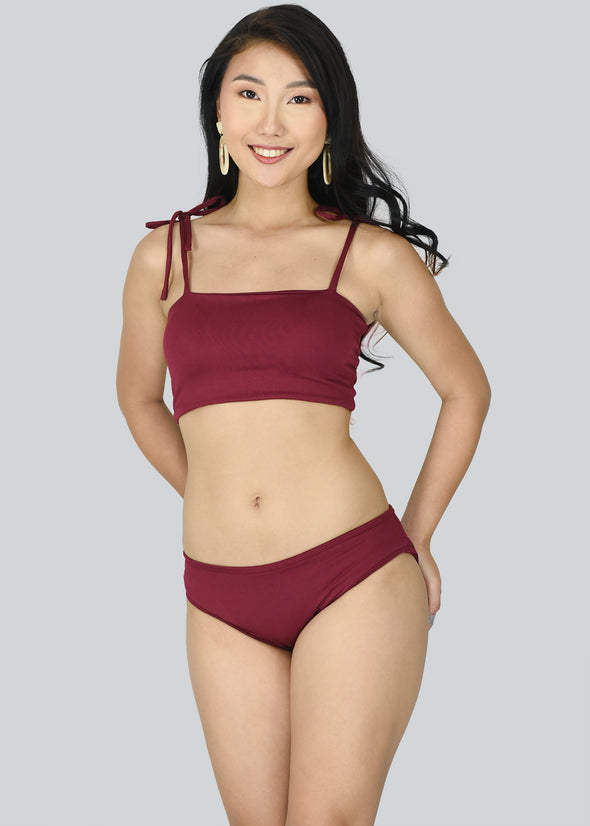 Clea Two Piece Swimwear - Maroon