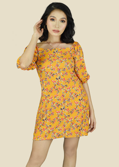 Clair Dress - Yellow Cherry