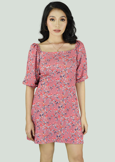 Clair Dress - Pink Cherry