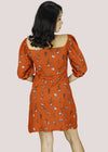 Clair Dress - Rust Floral