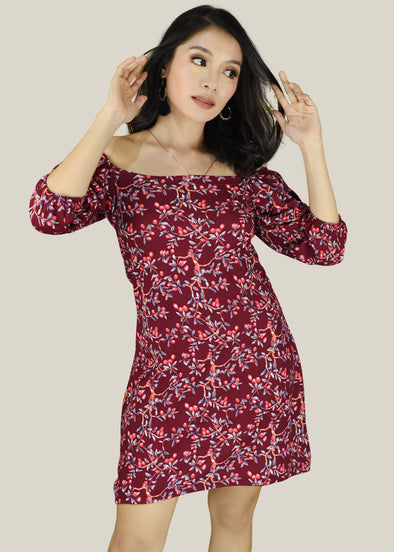 Clair Dress - Red Cherry