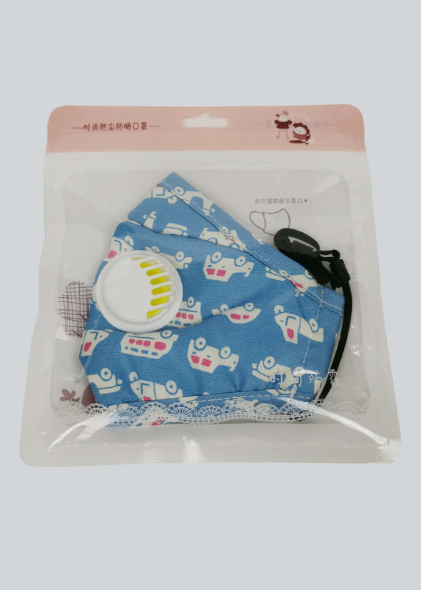 PM2.5 Kids Face Mask - Blue Car