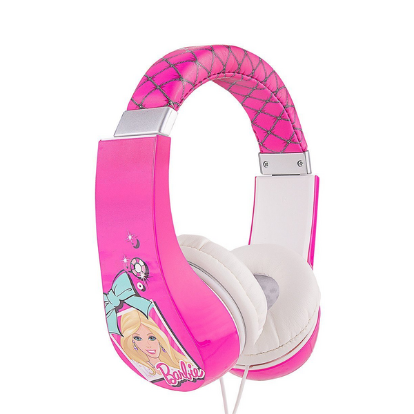 Barbie Kid Safe Over the Ear Headphone w/ Volume Limiter