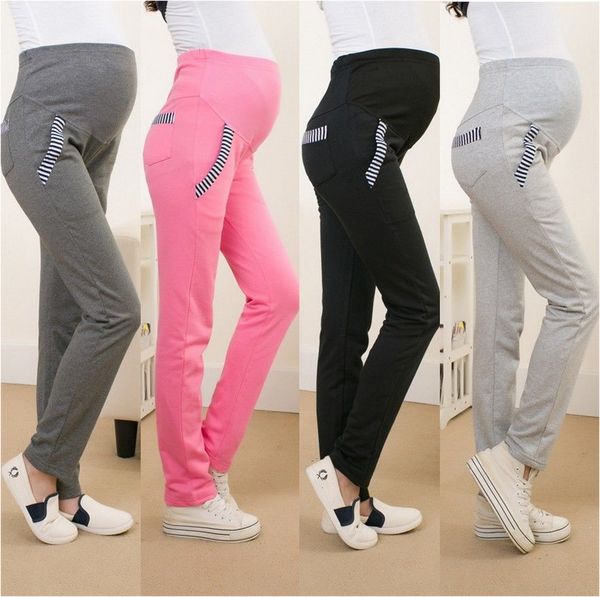 Cotton High Waist Maternity Pants