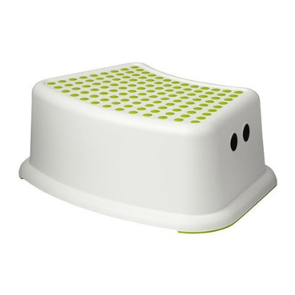 602.484.18 Forsiktig Children's Stool, Green/White
