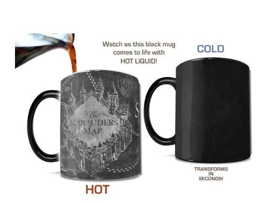 Dark Magic Harry Potter mischief managed Mugs Color Changing Sensitive Ceramic Mug