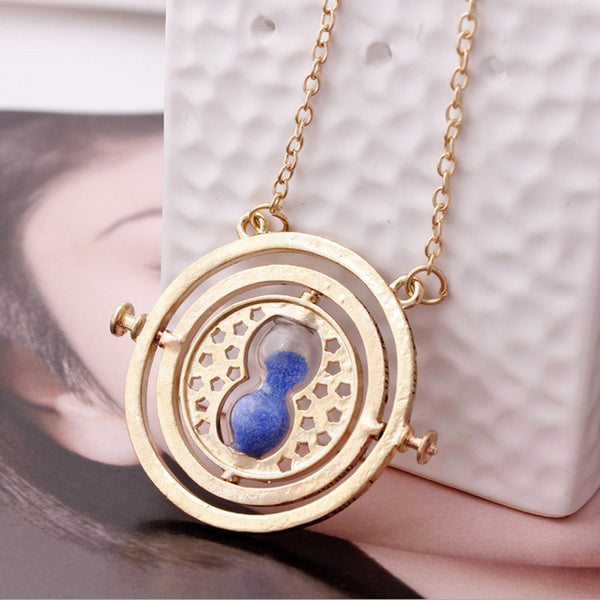 Harry Potter 360 degree time converter hourglass necklace