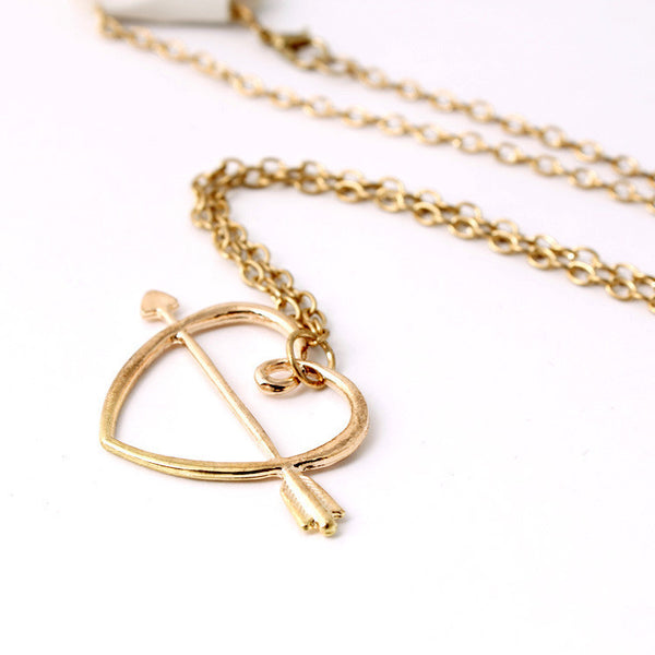 Harry Potter Ron Weasley's love Horcrux an arrow to the heart gold pendant necklace