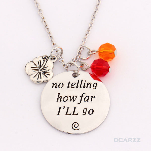 """How Far I'll go""Hand Stamped Moana Necklace"