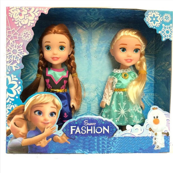 Frozen Princess 16cm Anna Elsa Dolls For Girls